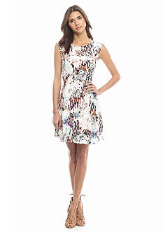 French Connection Isla Ripple Flared Dress