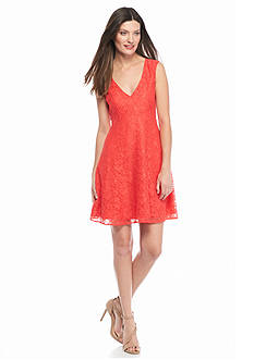 French Connection Lizzie Ruth V-Neck Dress