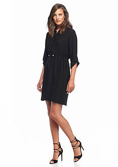 French Connection Cecil Drape Shirt Dress