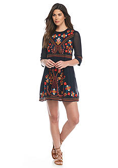 French Connection Embroidered Kiko Dress