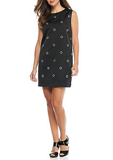 French Connection Midnight Grommet Dress