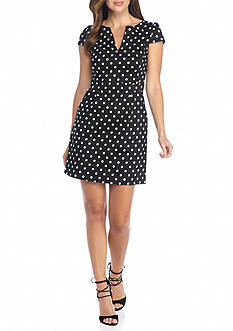 French Connection Dotty Spot Cap Sleeve Dress