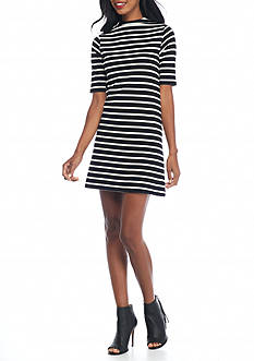 French Connection Terry Stripe Dress