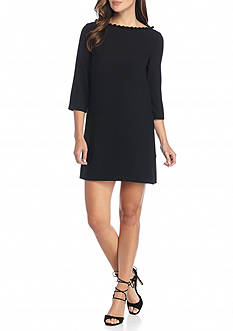 French Connection Arrow Crepe Pom Pom Dress