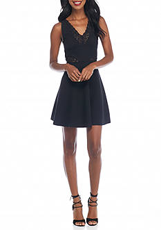 French Connection Savannah Fit and Flare Dress