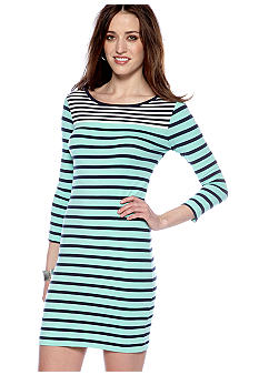 French Connection Boulevard Stripe Knit Dress