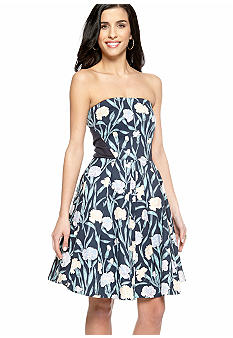 French Connection Carnation Strapless Dress