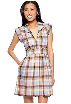 French Connection Cookie Checked Shirt Dress