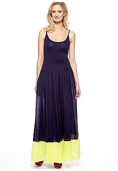 French Connection Marionette Mixed Maxi Dress