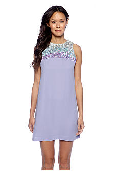 French Connection Opal Ombre Sequin Shift Dress