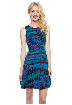 French Connection Zig Zag A-Line Dress
