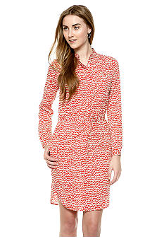 French Connection Lightening Stripe Shirt Dress