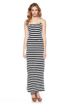 French Connection Totem Jersey Stripe Maxi Dress
