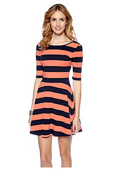 French Connection Fun Stripe Jersey Dress