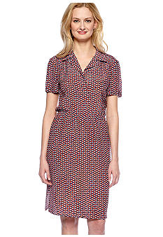 French Connection Checkerboard Shirt Dress