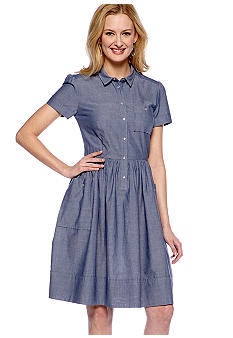 French Connection Fast Charlie Chambray Dress
