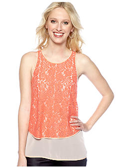 French Connection Popy Lace Block Tank