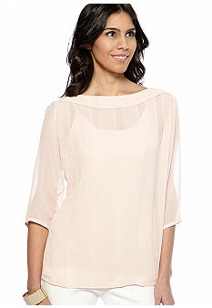 French Connection Summer Spells Pleated Blouse