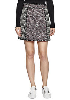 French Connection Pixel Mix Cotton Skirt