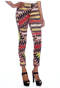 French Connection Zig Zag Flat Front Trouser