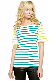 French Connection Carello Stripe Top