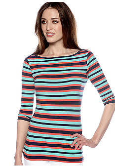 French Connection Space Hopper Stripe Knit Top