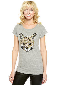 French Connection Sequin Felix Fox Tee