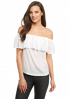 French Connection Polly Plains Off The Shoulder Top