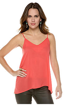 French Connection Polly Plains Strappy V-Neck Tank