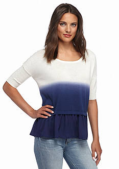 French Connection Dip Dye Knit Top