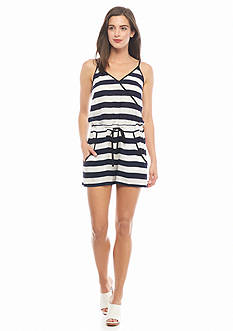 French Connection Striped Romper