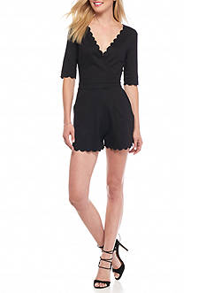 French Connection Beau Scallop Edge Romper