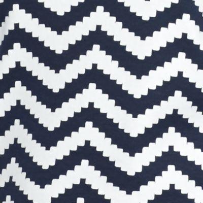 Kim Rogers Petite Clothing: Navy/White Kim Rogers Petite Chevron V-Neck Tee