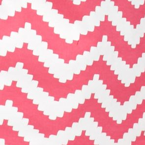 Petite Tops: Knit Tops: Pink Pop/White Kim Rogers Petite Chevron V-Neck Tee