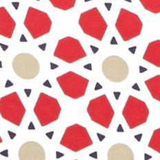 Petite Tops: Knit Tops: Red/Khaki Kim Rogers Petite Medallion Print Tee