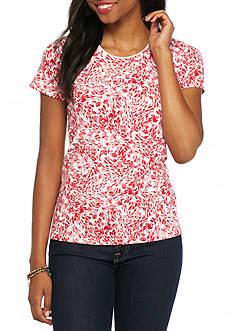 Kim Rogers Petite Floral Breeze Print Knit Top