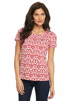 Kim Rogers Petite Square Neck Maple Scroll Top