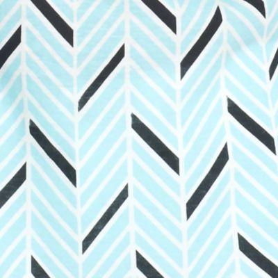 Petite Tops: Knit Tops: Turquoise/Black Kim Rogers Petite Chevron Tank