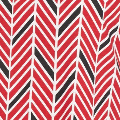 Petite Tops: Knit Tops: Red/Black Kim Rogers Petite Chevron Tank