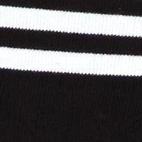 Kim Rogers Petites Sale: Black/White Kim Rogers Petitie Colorblock Stripe Crew Knit Top