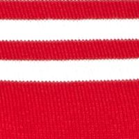 Kim Rogers Petites Sale: Red/White Kim Rogers Petitie Colorblock Stripe Crew Knit Top