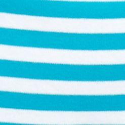 Kim Rogers Petites Sale: Turq/White Kim Rogers Petite Ballet Neck Colorblock Top