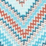 Kim Rogers Petites Sale: Turq/Rust Kim Rogers Petite Three Quarter Sleeve Chevron Print Top