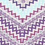 Kim Rogers Petites Sale: Grape/Delta Kim Rogers Petite Three Quarter Sleeve Chevron Print Top