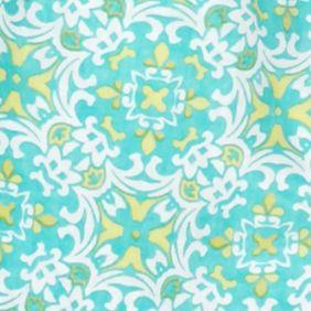 Linen Shop: Turquoise Combo Kim Rogers Petite Printed Linen Shirt