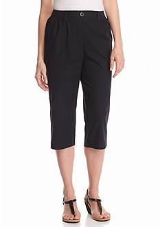 Kim Rogers Petite Knit Waist Capri Pants