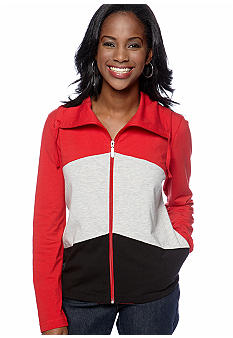 Kim Rogers Petite Color Blocked Jacket