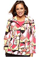 Kim Rogers® Petite Printed Jacket with 3/4 Sleeves