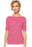 Kim Rogers® Petite Stripe Boat Neck Top