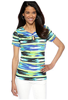 Kim Rogers Petite Short Sleeve Marilyn Top